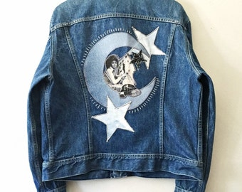 Michael Jackson in the Stars. Cosmic MJ Totem Denim Jacket
