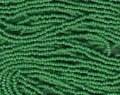 Czech Charlotte Seed Beads 13/0 Green  31910 , Opaque Green Seed Beads, Preciosia Beads, Tiny Seed Bead, Faceted Seed Bead