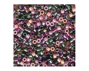 Miyuki Delica Beads 11/0 Japanese Seed Beads DBMIX21 (7.2g), Lavender Garden Mixture  Purple Delica Seed Beads, Glass Bead, Cylinder Beads