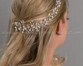 Wedding Pearl Hair Vine, Pearl Hair Swag - Trisha