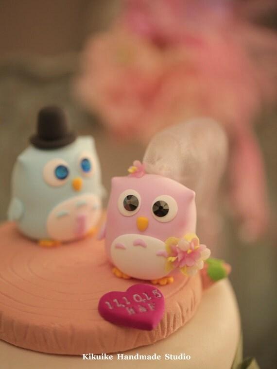 Owls Wedding Cake Topper----k514