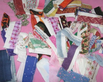 Full Bag of fabric selvages, 1 -1/4 pound, fat quarters to 3 yards