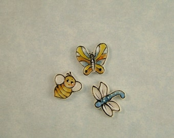 Bug Embellishments set of 3