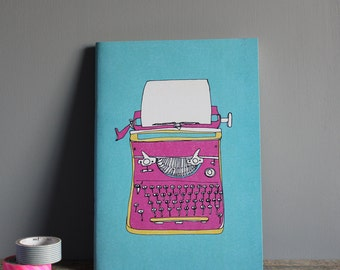 Typewriter Notebook, Sketchbook, Travel Journal - Recycled A5