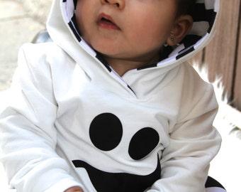 Ghost Hoodie AND Harem Pants OR Leggings Toddler Ghost Costume, Baby Ghost Costume :Etsy kids,  baby halloween costume, warm, easy