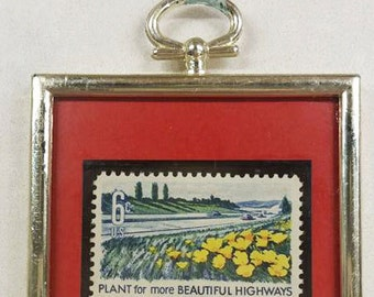 Sale - Framed stamp 1969 - Free US shipping