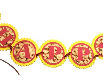 Cheerios Banner - Happy Birthday, Made to Order with Your Favorite Colors