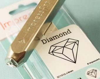 April Birthstone Diamond stamp 6mm Diamond metal stamp ImpressArt metal stamp
