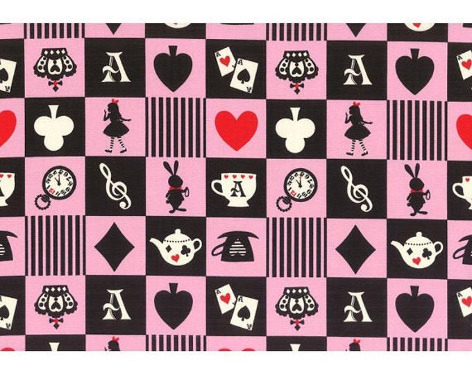 Girls Story Alice in Wonderland - Alice Squares L52-20 pink , Lecien of Japan