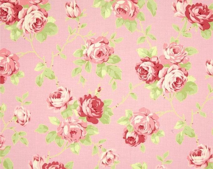 Sale - Lulu Roses by Tanya Whelan - Lulu TW092 Pink - by the yard