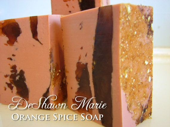 SALE SOAP- Orange Spice Soap, Vegan Soap - Handmade Soap - Fall Soap- Soap Gift, Christmas Gift, Thanksgiving Soap Gift, Father's Day Gift