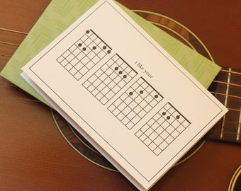 I Like Your FACE - Guitar Musician Chords Card