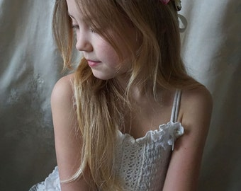 Uli Flower Crown... boho flower girl child whimsical fairy country wedding woodland tea party hippie circlet