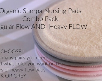 You choose how many pairs and heavy flow pul color,CUSTOM,Organic Sherpa  nursing pads/ breast pads/waterproof /washable/reusable
