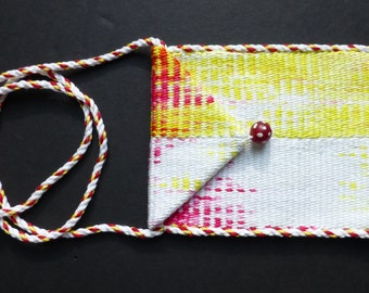 Handwoven hand-dyed purse - supernova