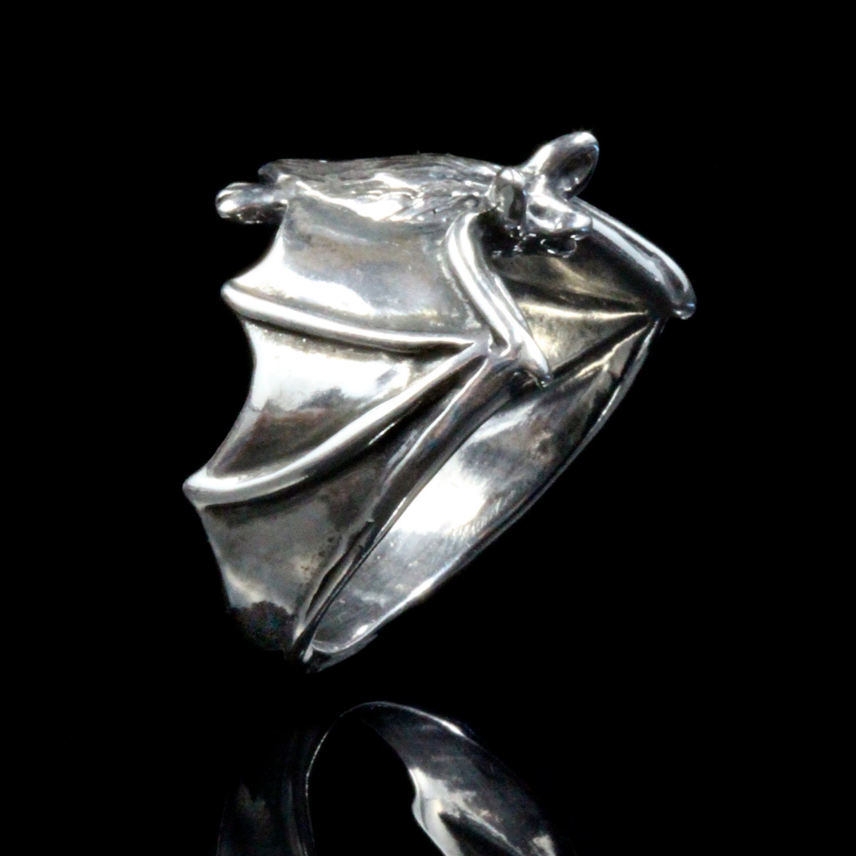 bat ring silver classic bat ring bat jewelry silver bat wing