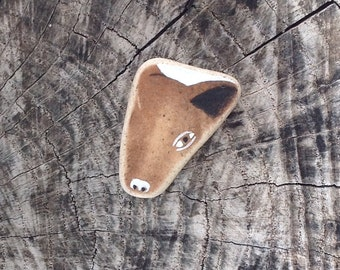 Beach Pottery Wild Boar Piglet - Totem, Animal Medicine, Spirit Animal, Healing