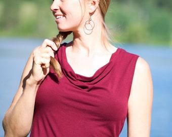 SALE - XS - Organic Cotton & Bamboo Dress - Lupine Cowl Tank Dress