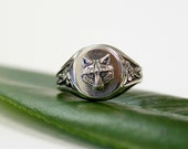 Silver Wolf Ring 476