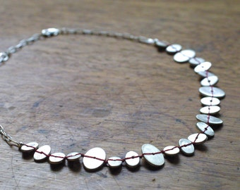 Unique, Artisan Stepping Stone Choker in Sterling and Fine Silver - Handmade, Unique Jewelry - Choker - Boho Chic