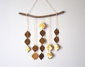 Very Gold Drops, wall hanging, hanging mobile, housewarming gift, home decor