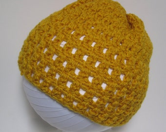Womens Hat, Yellow Hat, Mustard Hat, Yellow Crochet Hat, Beanie,  Yellow Beanie, Yellow Crochet Beanie, Winter Hat, Fall Hat, Gift for Her