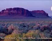 FORT ROCK MOONRISING, Central Oregon, Outback, Clyde Keller Photo, large 16x20 inch Fine Art Print, Color, Signed, Treasury, landscape