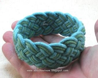 aquamarine woven rope bracelet armband turks head knot bracelet 3332
