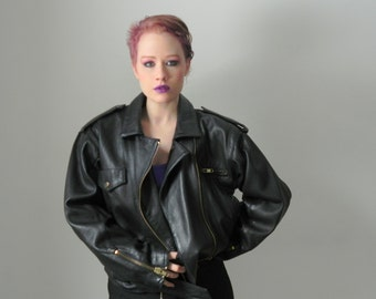 80s Leather Motorcycle Vintage Jacket