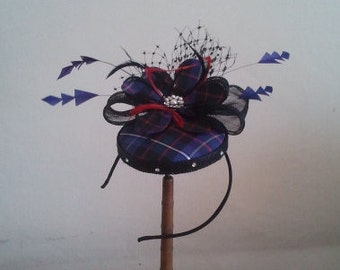 A stunning tartan pillbox hat