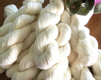 UNDYED SOCK YARN Merino/Nylon Blend Fingering Weight Yarn 100 Gram Skeins