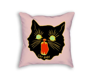 """Cry Baby 18"""" Throw Pillow"""