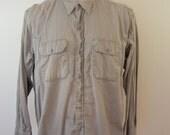 Vintage WASHINGTON DEE CEE Grey work shirt 1950's medium Sanforized Vat Dyed long sleeve