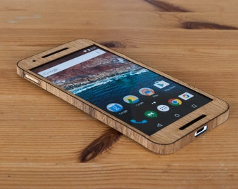 Real Wooden Phone Case for Google Nexus 6P! Available in Bamboo, Birch, Cedar, Maple, Oak, Teak, Walnut, Wenge, Zebrawood & more!
