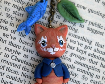Spice the Cat Charm Necklace - Whiteleaf Village - Sale