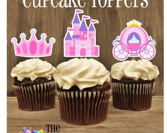Princess Party - Set of 12 Assorted Fairytale Cupcake Toppers by The Birthday House