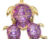 Needle minder, Cross stitch, Tapestry, Turtle, Embroidery, Purple Turtle