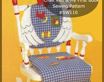 Mother Goose Sewing Pattern Applique Pattern RARE Pattern Chair Pad Sewing Pattern / Nursery Rhyme Book Instructions-#SW110-PDF  DurhamDeals