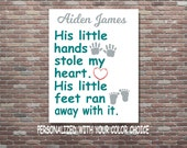Personalized Baby Gift, Baby Shower Gift, Baby Boy Gift, DIGITAL DOWNLOAD, Newborn Baby Boy Gift, Boy Nursery Art, Nursery Art Decor