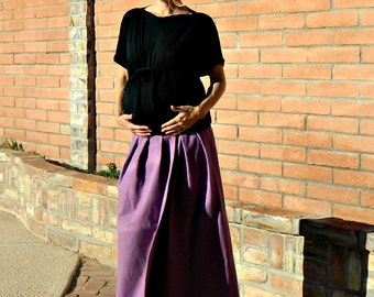 Maxi Skirt-Maxi Skirts Long-Long Skirt-Maternity Skirt-LaChicSewEasy to Wear Chloe Maxi-Womens Clothing Staple-Cozy Flannel-Many Body Sizes