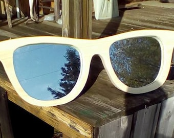 wood sun glasses- mirror wall hanging-glasses shaped mirror
