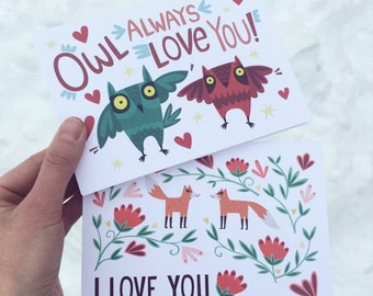 Woodland Love Notes Set of 2