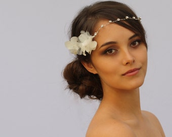 Floral Crystal Halo Headband - The Olivia