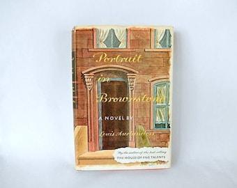 Portrait in Brownstone, vintage book, New York family saga, L. Auchincloss, fiction, hardcover 1962