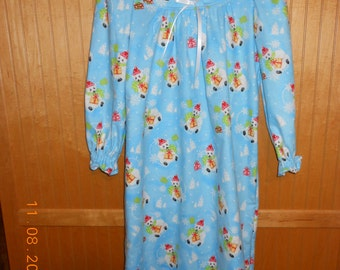 Size 8 flannel nightgown