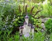 Elfin Castle Ceramic Handbuilt Nightlight Lantern Sculpture Garden Decoration Gardener Gift garden art hand built