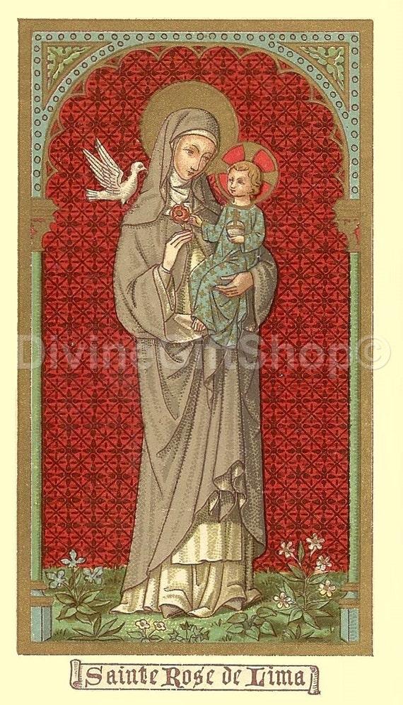 Icon Saint Rose of Lima 5 X 7 Print Icon Print