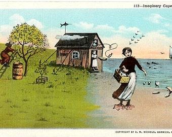 Vintage Cape Cod Postcard - Imaginary Cape Cod (Unused)