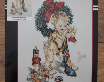 1994 cross stitch pattern CHRISTMAS MORNING Saturday Evening Post