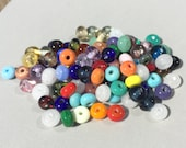 From the beadbox - 100  Spacer Beads  - Handmade Lampwork (3)